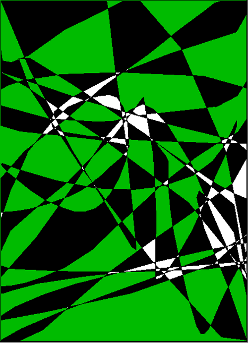 Lliam's Green & Black Abstract 5-303