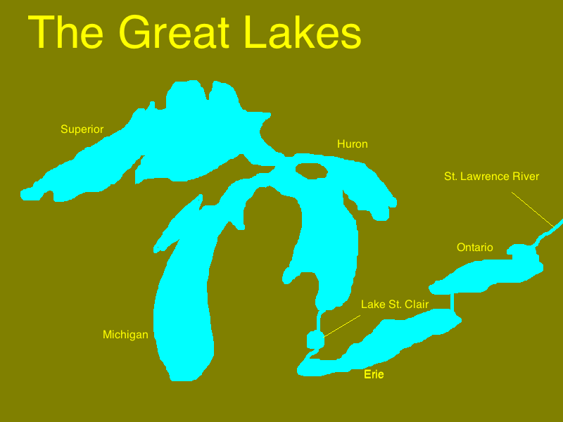 PS Amersfort School Of Social Awareness Great Lakes Map Quest - Great lakes labeled map