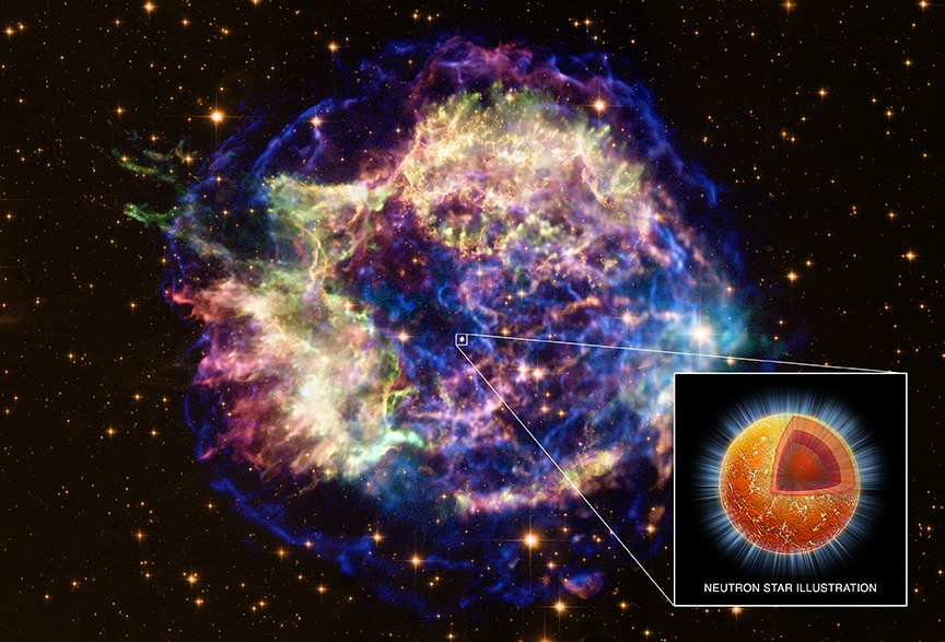 A supernova remnant about 11,000 light years away.