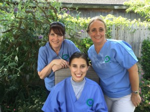 Volunteers including our own Gaby!