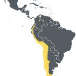Map of Andean condor range